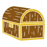 Hand drawn cartoon doodle of a treasure chest. Illustrated hand drawn cartoon doodle of a treasure chest royalty free illustration