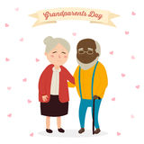Hand drawn cartoon grandparents Royalty Free Stock Images