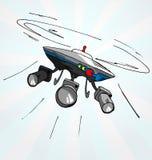 Hand drawn cartoon illustration of flying drone Royalty Free Stock Photo