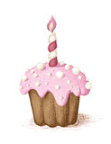 Hand drawn celebration cupcake. Royalty Free Stock Photo