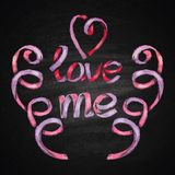 Hand drawn chalk lettering. Royalty Free Stock Images