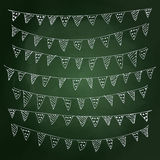 Hand drawn chalk style illustration of bunting Stock Image