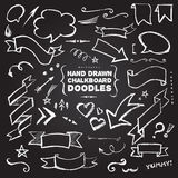 Hand Drawn Chalkboard Doodles Royalty Free Stock Image