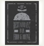 Hand-drawn chalkboard menu Royalty Free Stock Photos