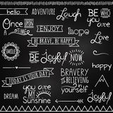 Hand Drawn Chalkboard Style Words Royalty Free Stock Images
