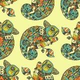 Hand drawn chameleon Stock Photography