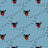 Seamless vector pattern with birds.