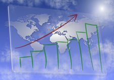Global business growth Royalty Free Stock Images