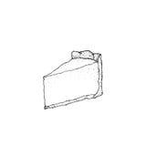 Hand drawn cheesecake Stock Photo