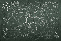 Hand drawn chemistry set stock illustration