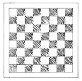 Hand drawn chessboard Royalty Free Stock Images