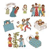 Hand drawn children Royalty Free Stock Photos