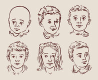Hand-drawn children. vector illustration Royalty Free Stock Images