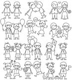 Hand Drawn Childrens Clip Art. Sketch Icons Royalty Free Stock Photo