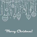 Hand drawn Christmas background. Vector illustration Stock Images