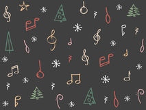 Hand drawn Christmas background Stock Photography