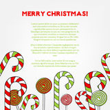 Hand drawn christmas background Royalty Free Stock Photos