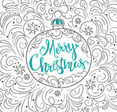 Hand drawn Christmas ball and ornament Stock Photo