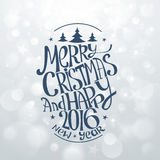 Hand Drawn Christmas Banners Typography Stock Photography