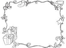 Hand drawn Christmas border Royalty Free Stock Photos