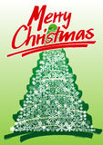 Hand drawn christmas card Royalty Free Stock Photos
