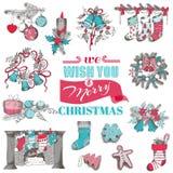 Hand Drawn Christmas Card Royalty Free Stock Image