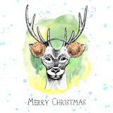 Hand drawn Christmas card Stock Photo