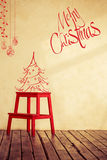Hand drawn Christmas card Royalty Free Stock Image