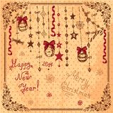 Hand drawn christmas card Royalty Free Stock Photos