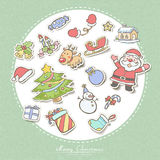 Hand drawn Christmas decorating elements set Royalty Free Stock Image
