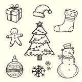 Hand Drawn of Christmas Decoration Element Stock Image