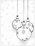 Hand-drawn christmas decorations Stock Photo