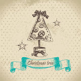 Hand drawn Christmas design Royalty Free Stock Photos
