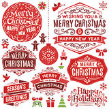 Hand Drawn Christmas Design Elements Stock Photography