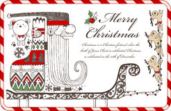 Hand drawn Christmas elements C Royalty Free Stock Photography