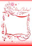 Hand drawn Christmas greeting Stock Image