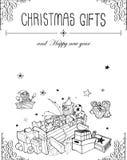 Hand drawn Christmas greeting card Stock Photo