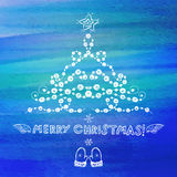 Hand drawn Christmas greeting card Royalty Free Stock Photography