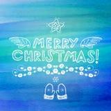 Hand drawn Christmas greeting card Stock Image