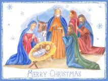 Hand Drawn Christmas Illustration Stock Photos