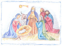 Hand drawn Christmas illustration Royalty Free Stock Photo