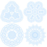 Hand-drawn christmas lace frame, mandala. Royalty Free Stock Photos