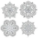 Hand-drawn christmas lace frame, mandala. Stock Images