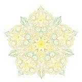 Hand-drawn christmas lace frame, mandala. Stock Photo