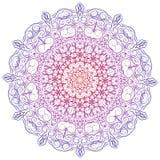Hand-drawn christmas lace frame, mandala. Stock Image