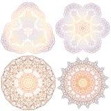 Hand-drawn christmas lace frame, mandala. Royalty Free Stock Image