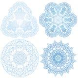 Hand-drawn christmas lace frame, mandala. Stock Photos