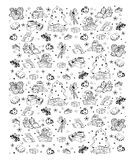 Hand drawn Christmas pattern Royalty Free Stock Images