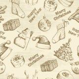Hand drawn christmas pattern Royalty Free Stock Photos