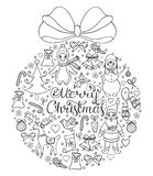 Hand drawn christmas pattern Royalty Free Stock Photography